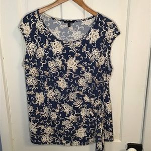 SAMI & JO: Denim blue color sleeveless shirt XL